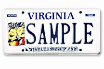 VA For Arts Licence Plates Sample